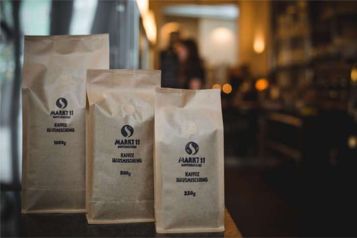 Kaffeehausmischung in der Markt 11 Kaffeerösterei