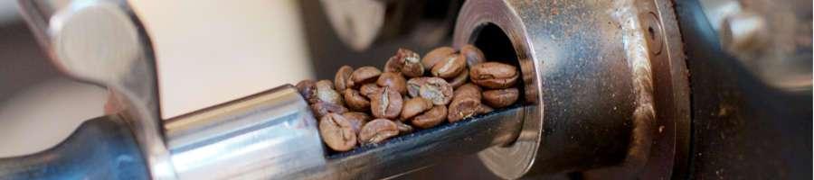 Frisch gerösteter Kaffee zur Aromakontrolle